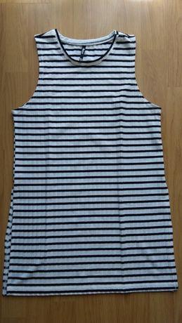 Bluzka w paski z rozcięciem Sinsay