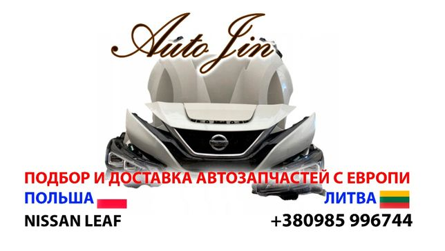 Разборка Nissan Leaf, бампер, дверь, фара, крило, капот,