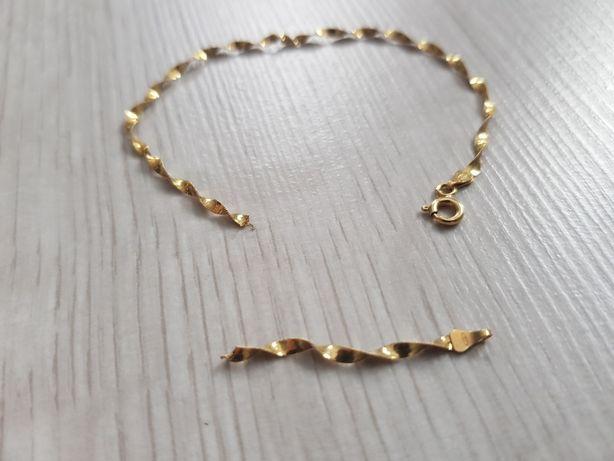 Złota bransoletka (łancuszek) 18k próba 750. Złom złota