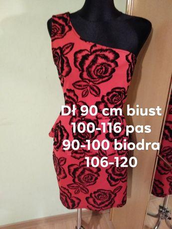 Sukienka czerwona roz 44
