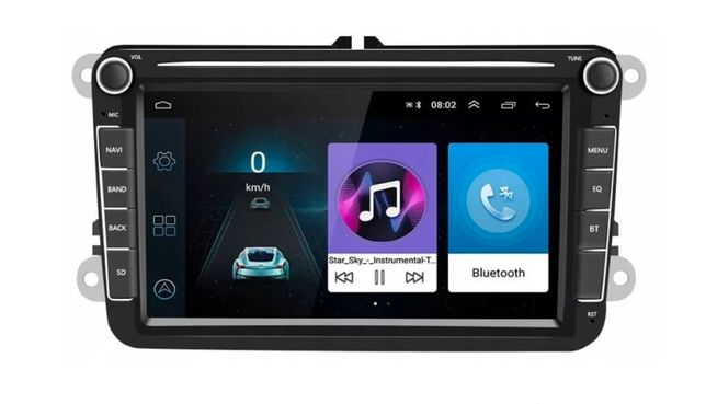 Radio Android 8.1 GO VW SKODA SEAT PASSAT GOLF 2 DIN Podofo