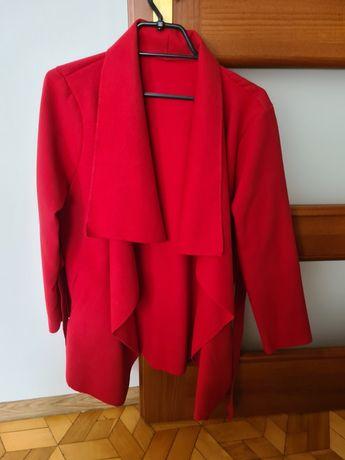 Czerwony płaszcz ciepła narzutka onesize