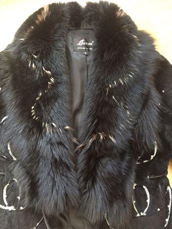 Женская куртка из меха кролика и лисицы