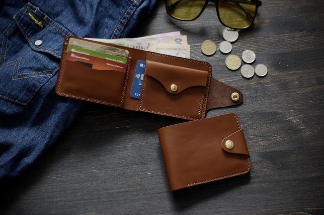 Ручна робота кошелек мужской портмоне кожаный гаманець шкіряний