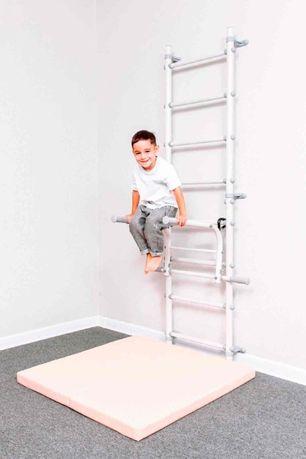 Drabinka gimnastyczna Next Basic + poręcze do ćwiczeń - drążek