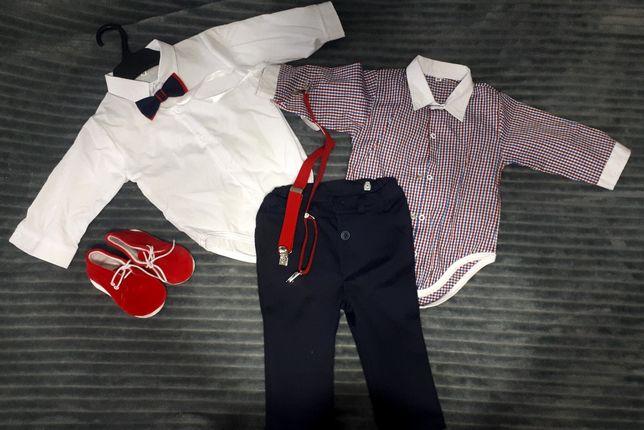 Ubranko na chrzest /wesele dla chłopca rozmiar 74/80