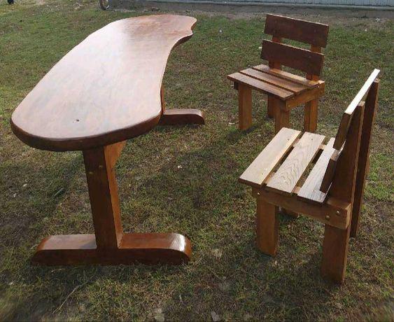 Stół ogrodowy krzesła Ogródek Działka