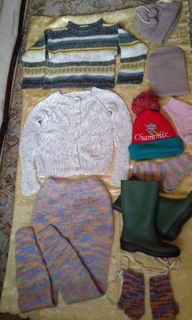 Пакет детская одежда на девочку. Детские вещи 5-6лет.