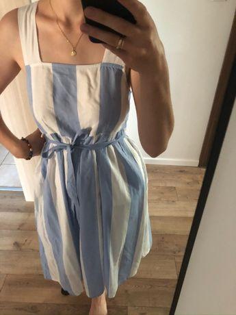 Nowa ciążowa sukienka w paski
