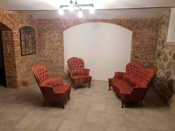 Sofa+2 fotele Ludwik kompet wypoczynek
