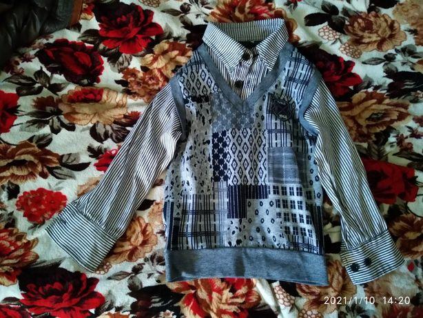 Рубашка свитер,на мальчика 6-8 лет