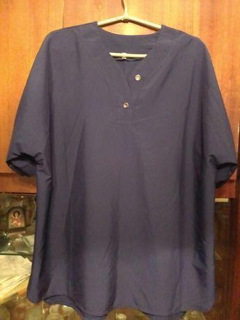 Цена снижена!!!Блуза синего цвета