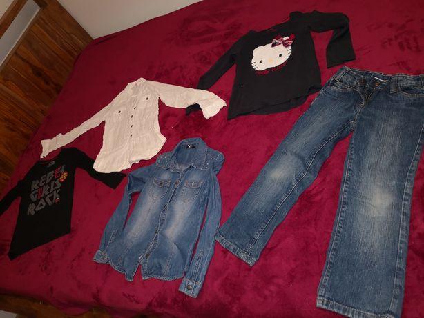 Zestaw ubrań dla dziewczynki na 128/134