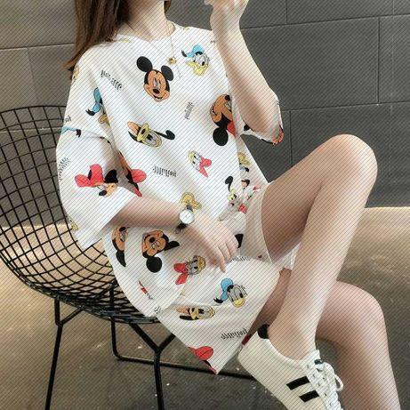 Уличный костюм новый, пижама, футболка, шорты размер С, подросток