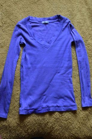 fioletowa bluzka z dekoltem M