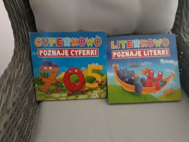 Sprzedam piękne książeczki z serii poznajemy literki i cyferki