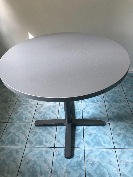 stolik okrągły szary