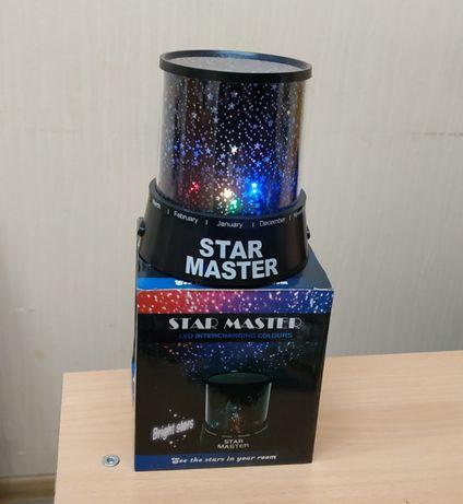 Проектор - ночник звездного неба Star master black