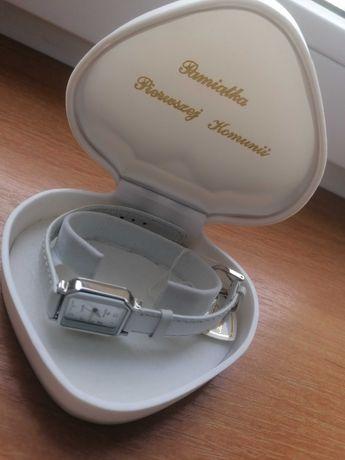 Zegarek biały nowy