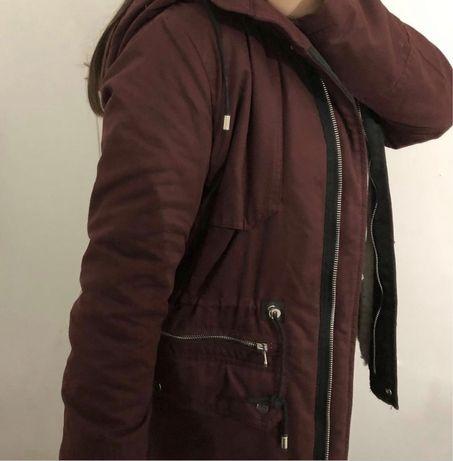 casaco de agasalho bordô