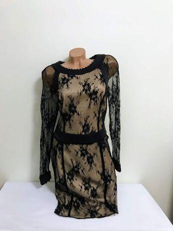 Платье женское ажурное гипюровое нарядное вечернее гипюр кружево