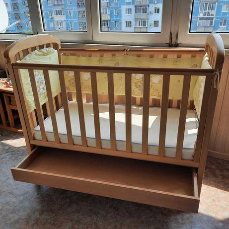 Кроватка Верес Соня + матрас+защита+ одеяла+постельное
