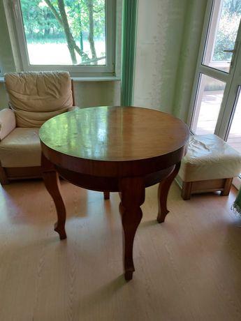 Pilne! Okrągły stół antyk Art Deco 1920-30 drewniany dwa blaty