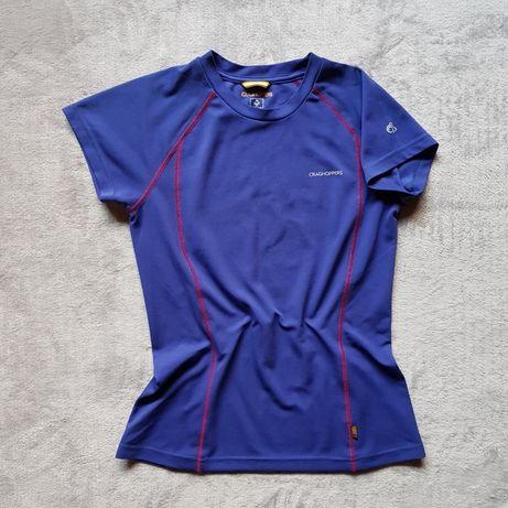 sportowa koszulka techniczna indygo kobaltowa