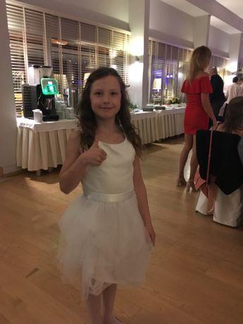 Cool Club sukienka tiulowa biała ecru 146