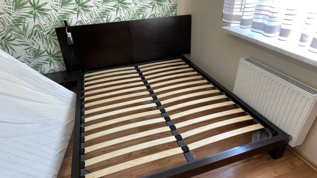 Łózko sypialniane 220x200cm z materacem