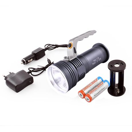 Фонарь прожектор фонарик Bailong Police BL-801-2 XPE ЗУ 220V/12V 18650