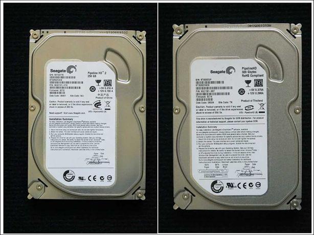 2 discos armazenamento interno computador Seagate 320GB + 250GB