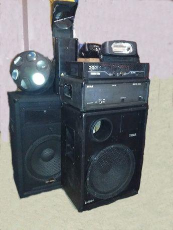 Комплект аппаратуры для озвучивания мероприятий.