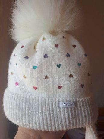 Зимняя шапочка для девочки Grans Гранс 36-38