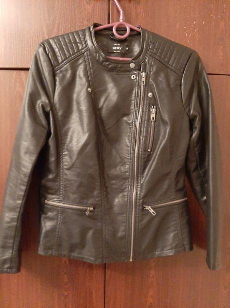 Куртка Only, кожзам, б/у, размер М