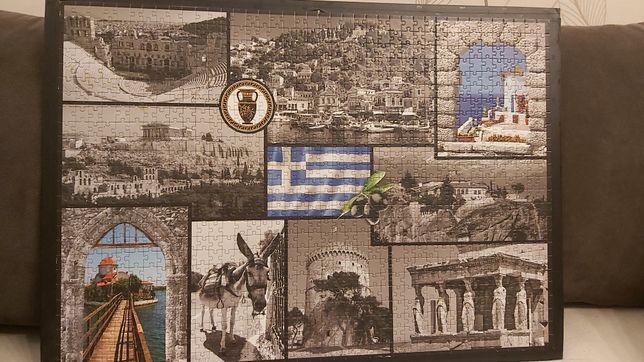 Ułożone puzzle 68,5 x 48