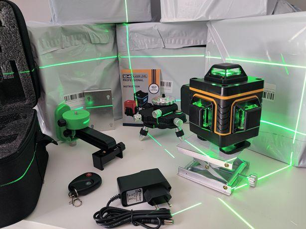 Nivel Laser auto-nivelante 16 Linhas verde, com COMANDO + acessórios!!