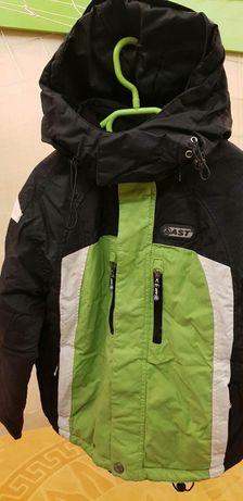 Продам зимнюю куртку с лыжными штанами 134 р