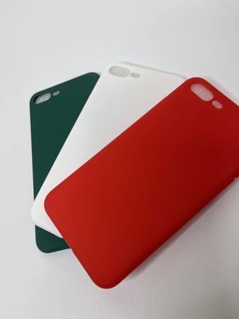 Чохол iPhone 7/8+ прозорий червоний білий