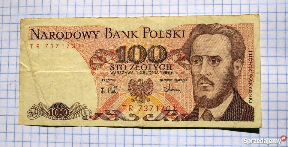 100 zł z Ludwikiem Waryńskim 1988 r. Rzeszów - image 1
