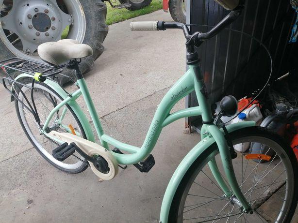 Rower damski w kolorze seledynowym