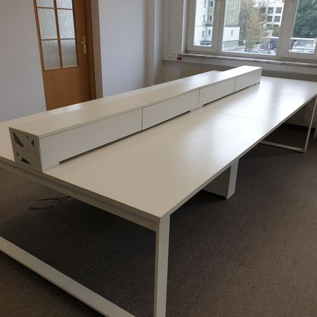 Duże biurko 6 stanowiskowe