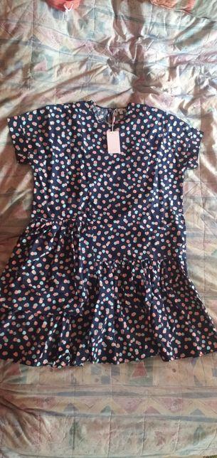Sukienka NAREE Poppy Summer Blue Dots