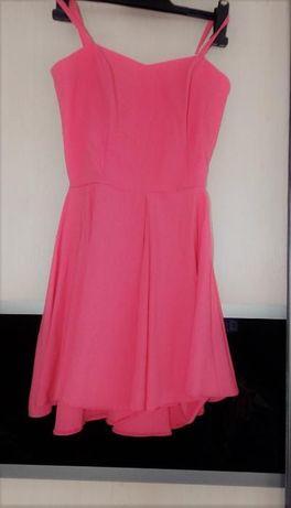 Piękna Brzoskwiniowa sukienka r. 38 Salon : AGNES