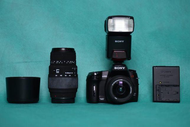 Zestaw fotograficzny z Lustrzanką Sony Alpha A450