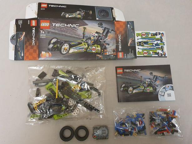 Nowe klocki Lego Technic 42103 Dragster samochód dla dziecka do zabawy
