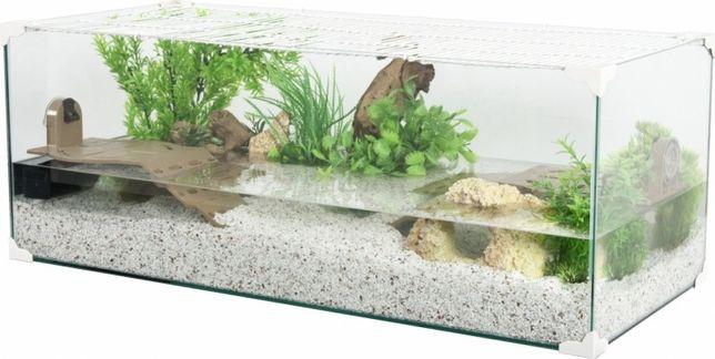 Tartarugueira/aquário novo c/filtro e tampa de proteção