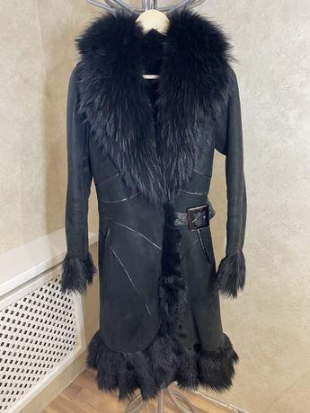 Дублёнка натуральная чёрная женская