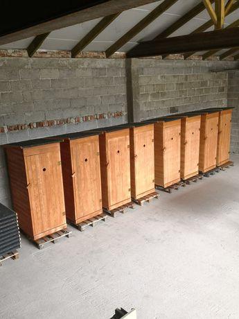 Toaleta Drewniana HEBLOWANA WC Wychodek Ustęp Szalet Promocja WC kibel