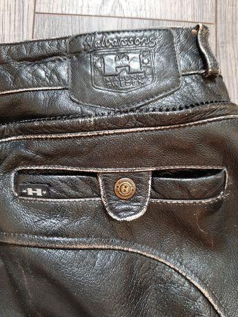 Spodnie skórzane motocyklowe szwedzkiej marki Halvarssons